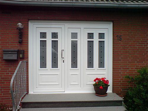 Haustüren weiß mit seitenteil  Haustüren
